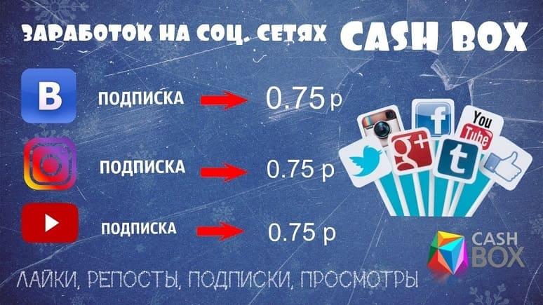 CashBox - Заработок в соц сетях