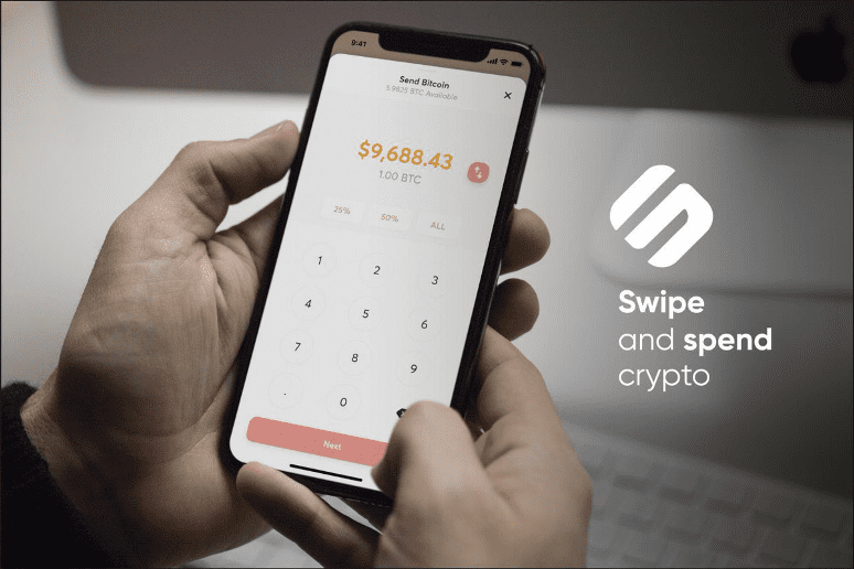 Swipe and spend crypto